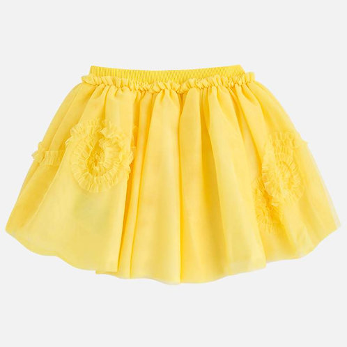 Mayoral Yellow Tulle Skirt