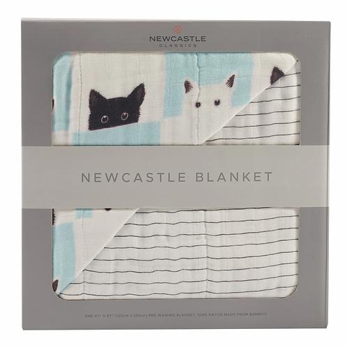 Peek-A-Boo Cats Newcastle Blanket