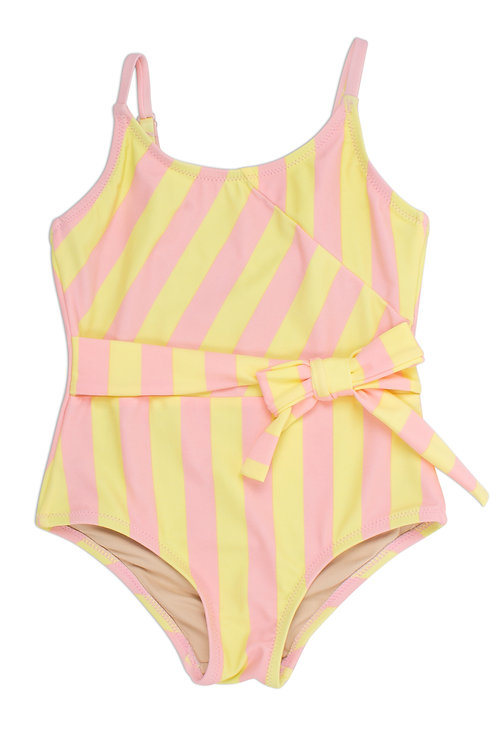 Shade Critters Yellow/Pink Stripe Swimsuit