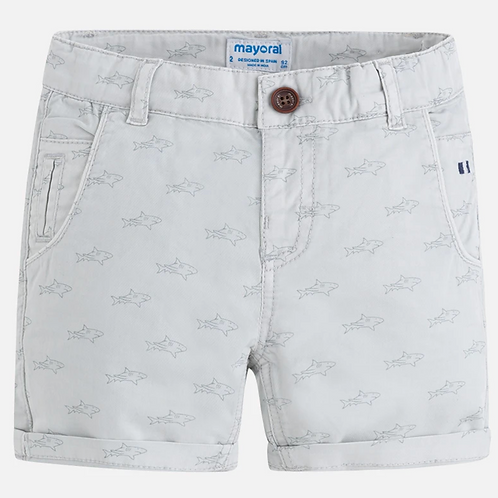 Mayoral Shark Print Shorts