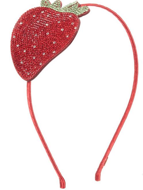 Bari Lynn Crystal Strawberry Headband