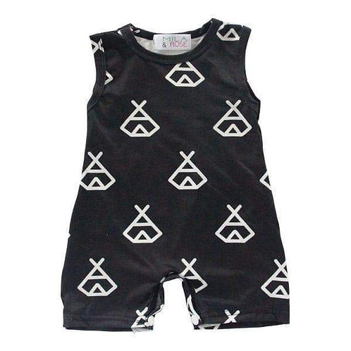 Mila & Rose Black Teepee Shorty One-Piece