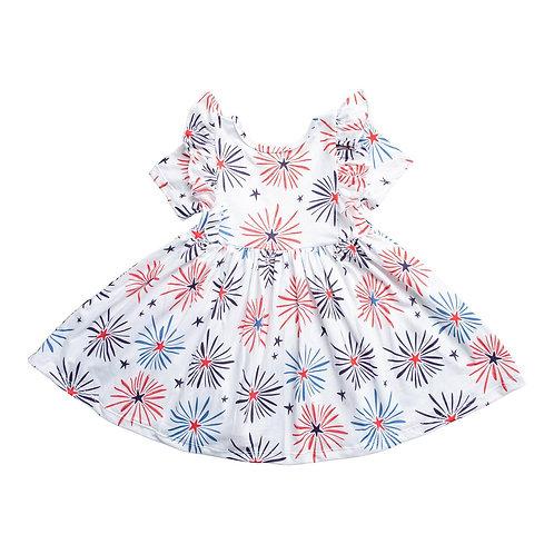 Mila & Rose - Little Firecracker Twirl Dress