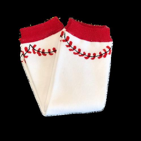 Baseball Baby Leg Warmers (0-12M)