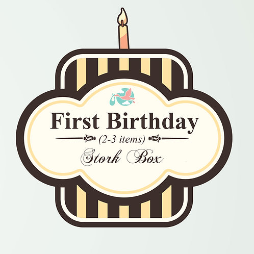 First Birthday Stork Box