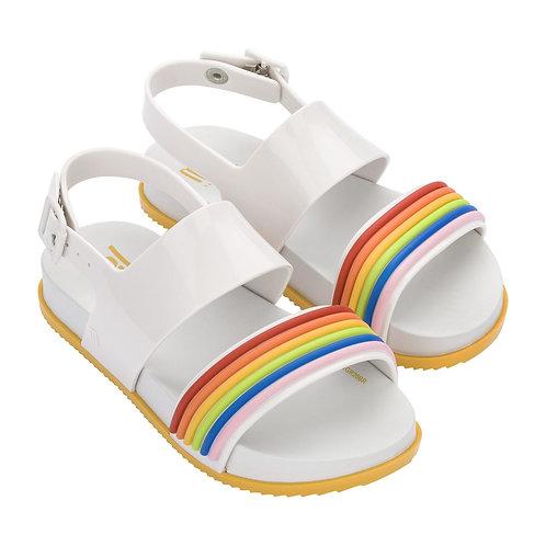 Mini Melissa Mel Cosmic Sandal 2 in White