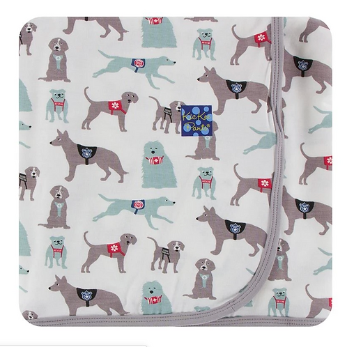 Kickee Pants - Print Swaddling Blanket in Natural Canine First Responders