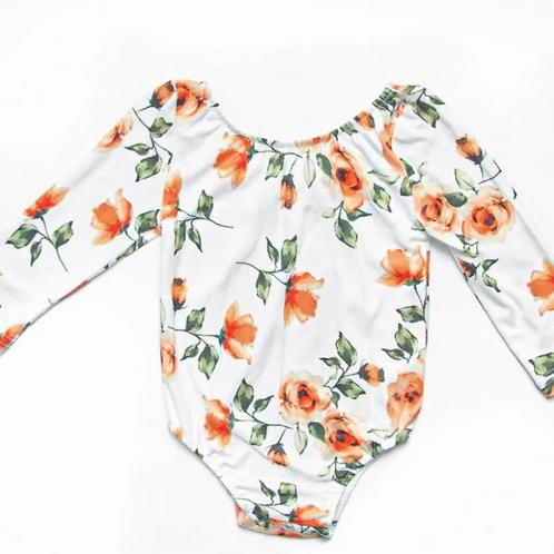 Bailey's Blossoms - Livee Long Sleeve Leotard in Colorado Fall
