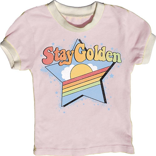 Rowdy Sprout -  Stay Golden Ringer Tee