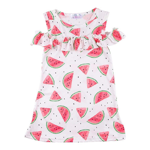 Mila & Rose Watermelon Cold Shoulder Dress