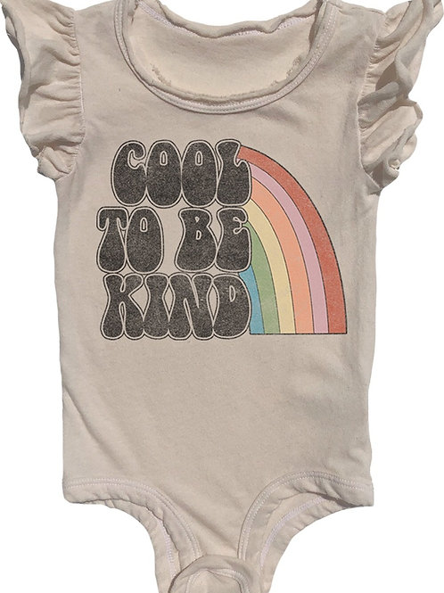 Rowdy Sprout -  Cool To Be Kind Ruffle Onesie