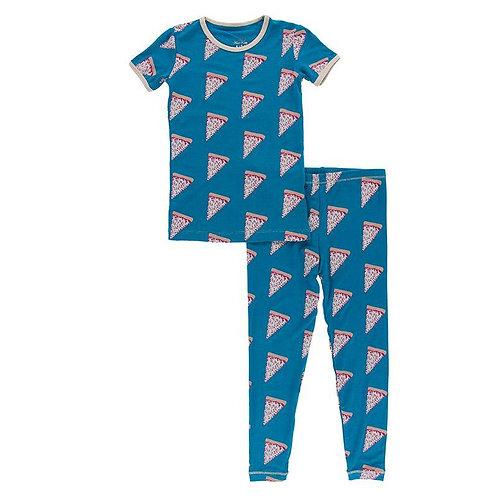 Kickee Pants - Short Sleeve Pajama Set (Seaport Pizza Slices)