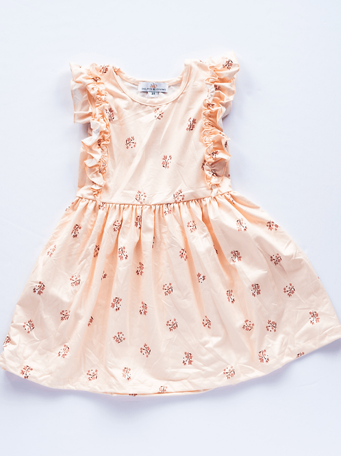Bailey's Blossoms - Zoey Ruffle Sleeve Dress (Vanilla Bean Floral)