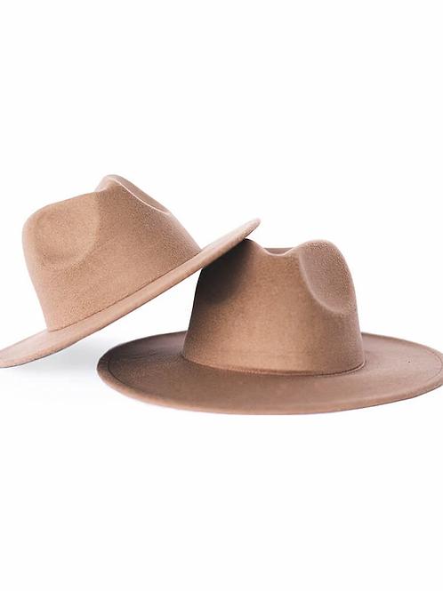 Bailey's Blossoms - Bordeaux Flat Brim Hat in Mocha