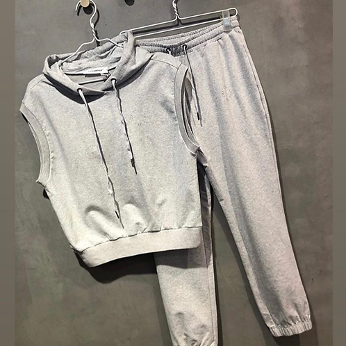 Co'couture home wear light grey sweat pants