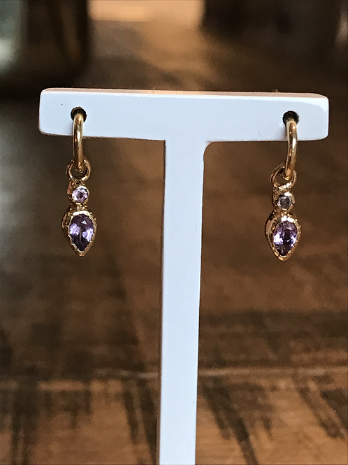 Mini pierre tourmalines violet/purple