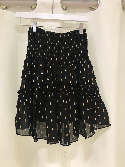Co'couture black/gold skirt