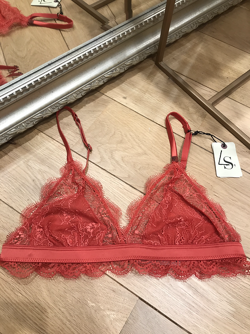 Love Lace Bralette red