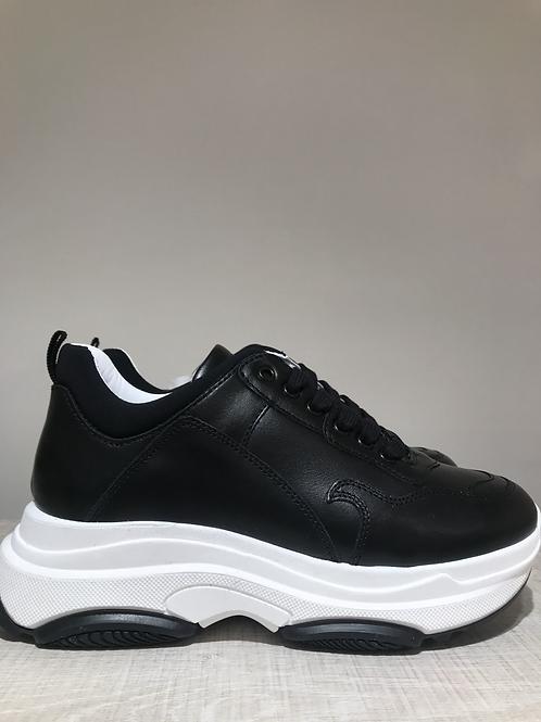 Fiamme black leather sneaker