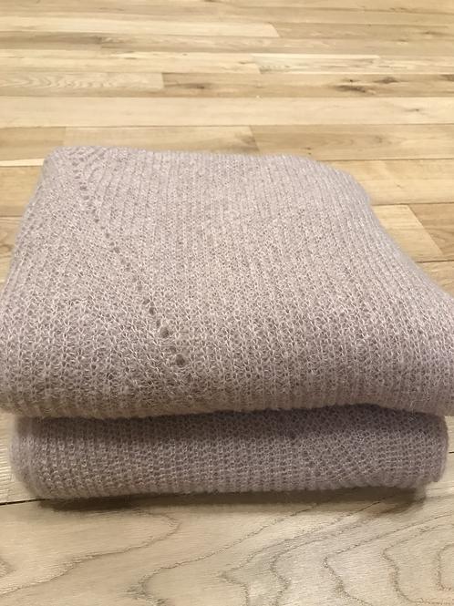 Soft beige warm scarf