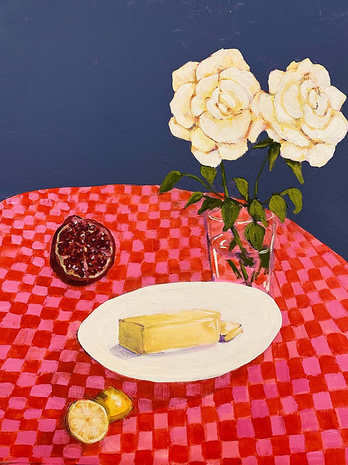 Still Life With Butter - Original Painting