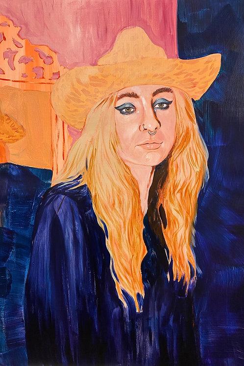 Oat Milk Lady — Original Painting