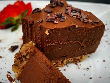 Sweet Potato Chocolate Pudding Pie