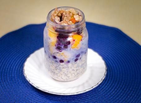 Mason Jar Oatmeal Breakfast