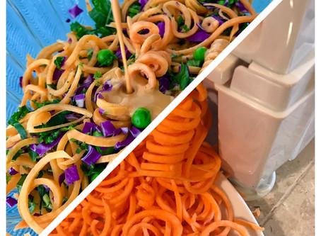 Spiralized Sweet Potato Salad