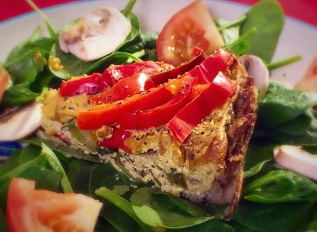 Potato -Crusted Mushroom Quiche