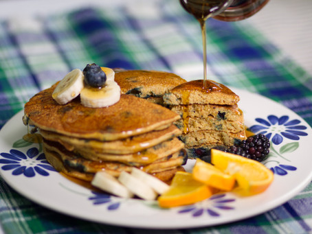 Gingerbread-Blueberry Pancakes