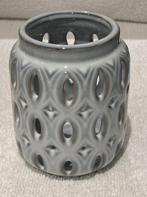 Cutout Cylinder Hurricane Candle Holder