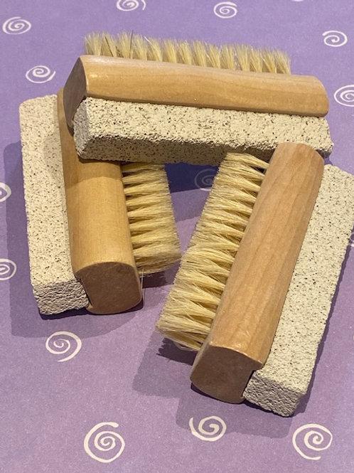 Nail brush and pumice stone