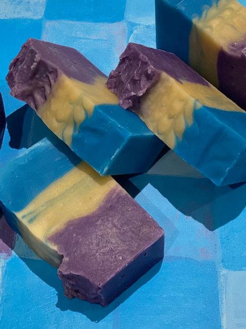 Lemon & Blueberry scented soap (Organic)