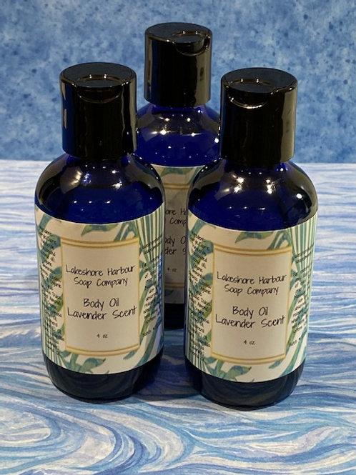 Body Oil - Lavender Scent (4 oz)