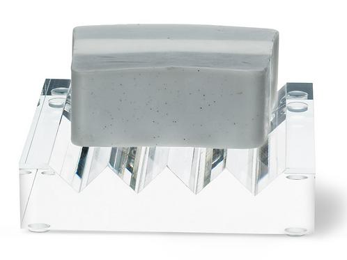 Clear Ridged Soap Dish