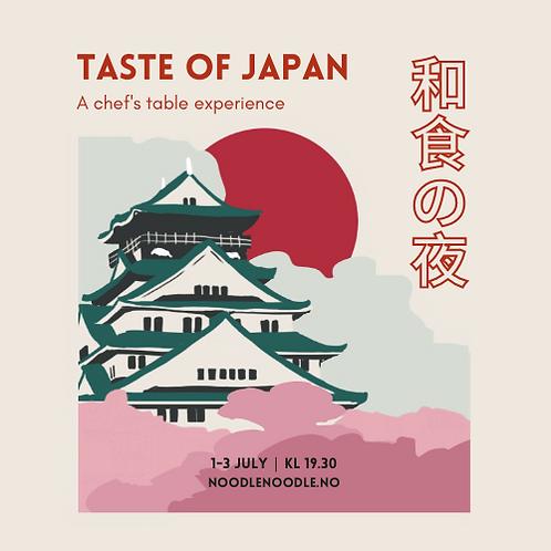 Taste of Japan - Dinner Menu (3 July)