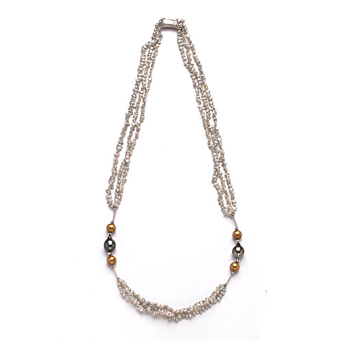 Tahitian and Akoya Pearl Necklace