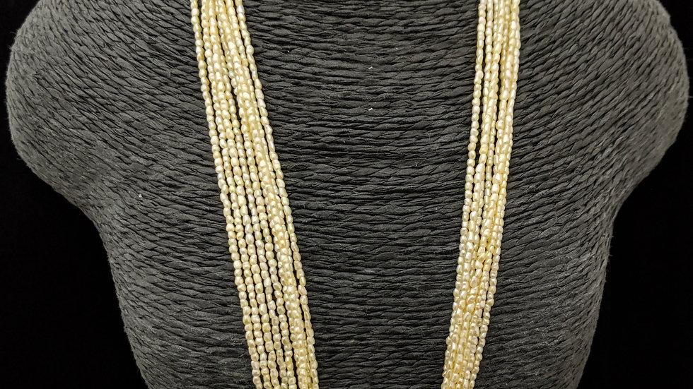 Golden Japanese Akoya Saltwater Keshi Pearls Item 1503-17N
