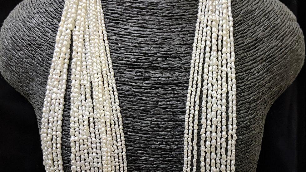 Japanese Akoya Saltwater Keshi Pearls Rice Shape Item R2-120-30O