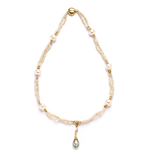 Champagne Akoya Keshi Necklace