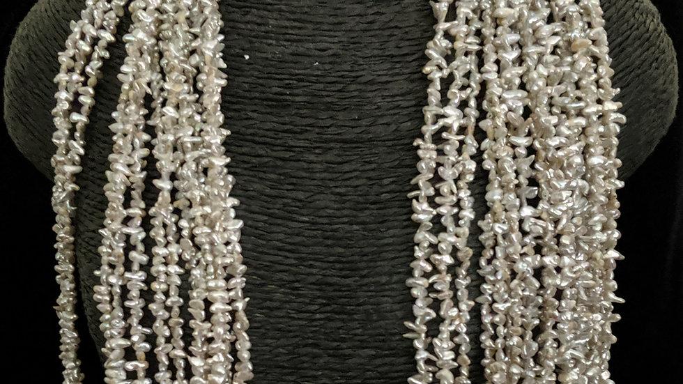 Japanese Akoya Saltwater Keshi Pearls Item P-003-34O