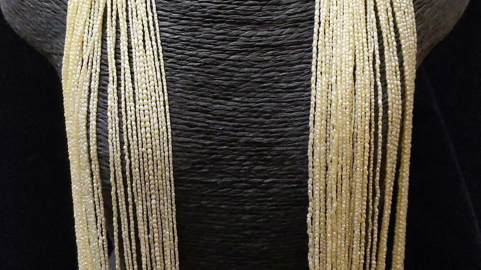 Japanese Akoya Saltwater Keshi Pearls Rice Shape Golden Item 1500-UE40