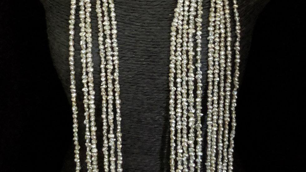 Japanese Akoya Saltwater Keshi Pearls Item N-408-16OUEH