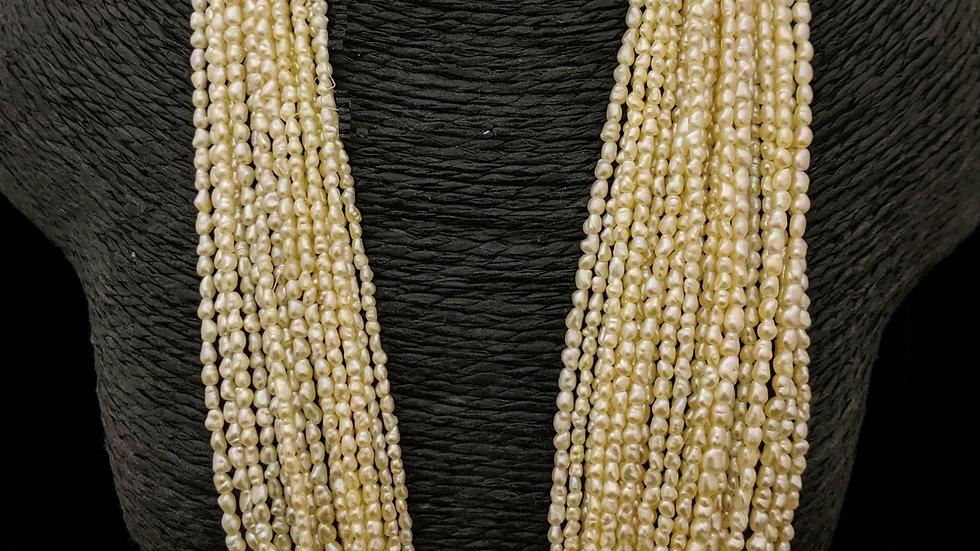 Light Golden Japanese Akoya Saltwater Keshi Pearls Item N-1705-39U