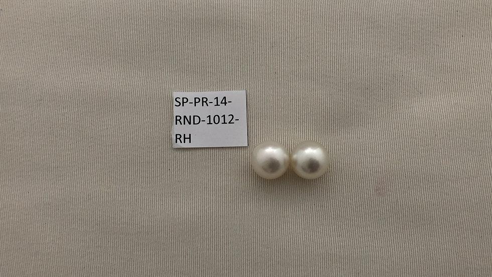 Pair of Round South Sea Pearls AAA 14MM  Item SP-PR-14_RND-1012-RH