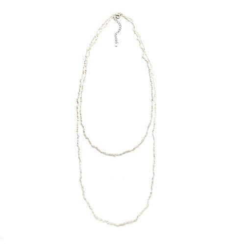 Spiky White Keshi Necklace