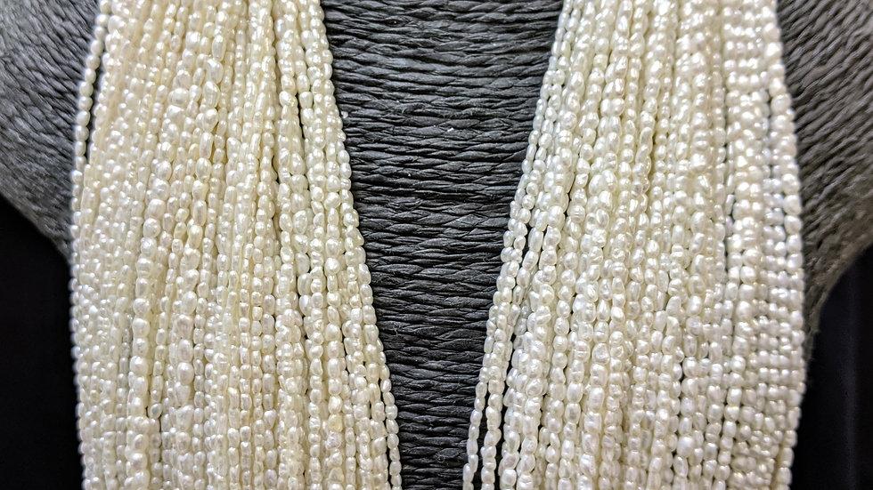 Japanese Akoya Saltwater Keshi Pearls Rice Shape Item R-0006-U125