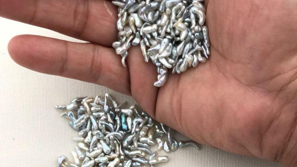 Japanese Akoya Saltwater Loose 'Stick' Keshi Pearls 500 Piece Lot Undrilled AAA