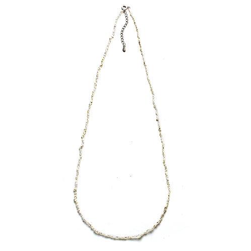 Long Adjustable Japanese Keshi Necklace